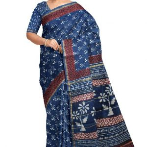Chanderi silk saree